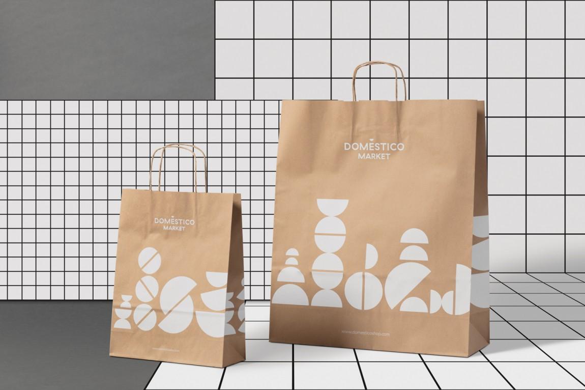 DomesticoShop在线零售家居领导品牌vi形象设计,广告袋子设计