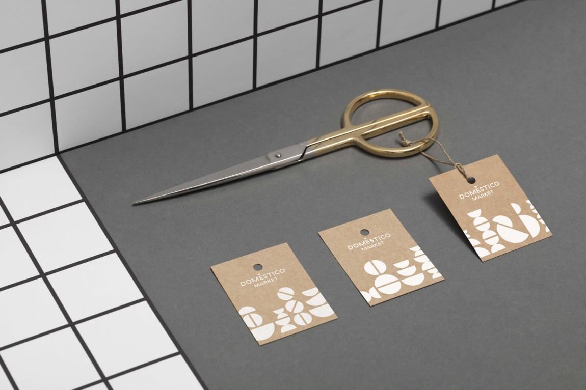 DomesticoShop在线零售家居领导品牌vi形象设计,吊牌设计