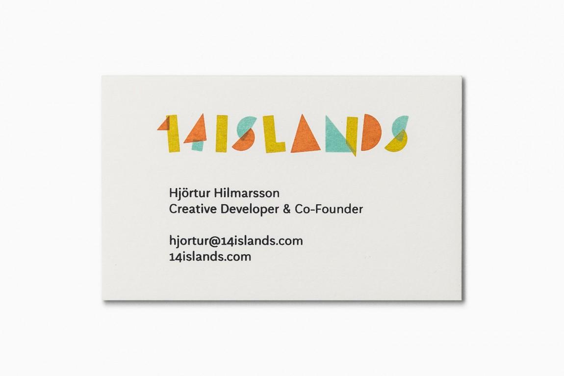 14 Islands数字开发公司企业品牌设计, 名片设计