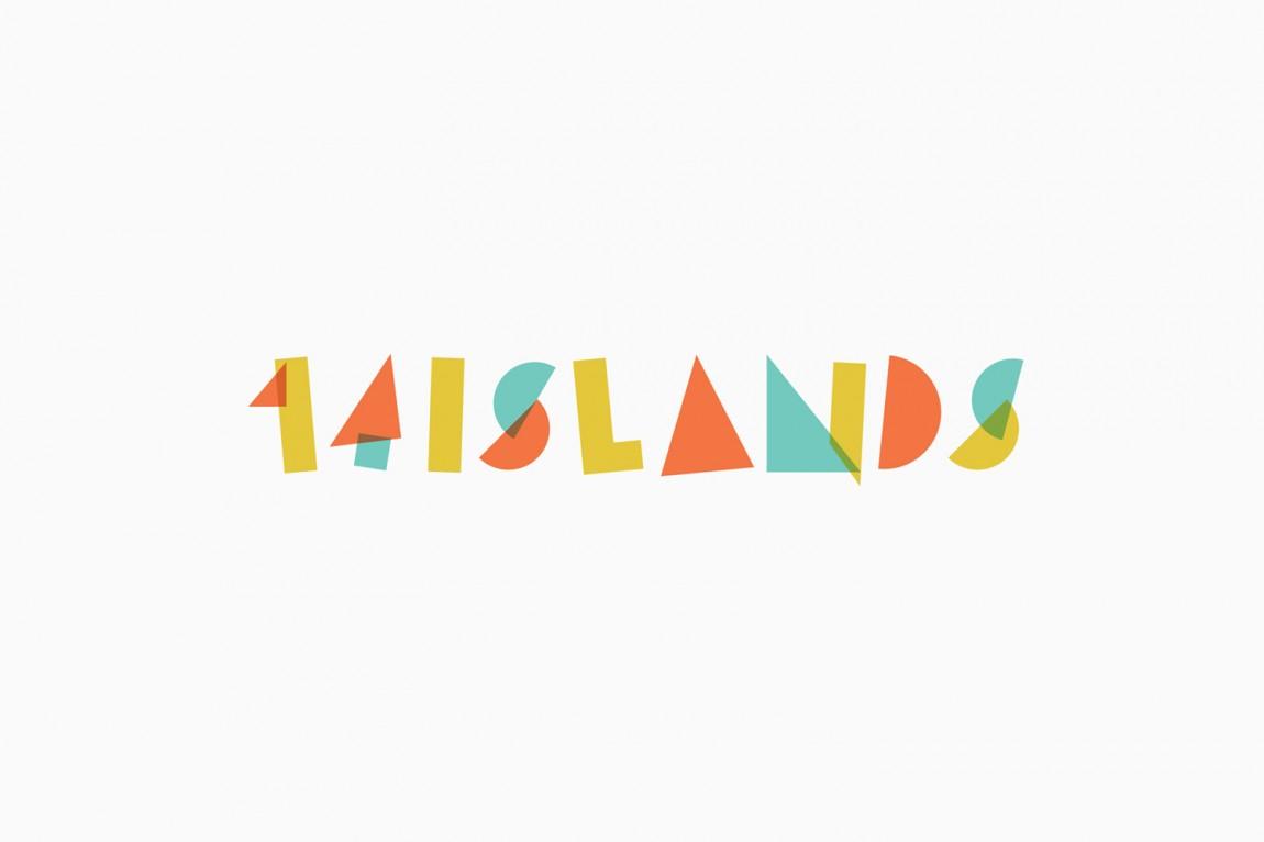 14 Islands数字开发公司企业品牌设计中,logo设计