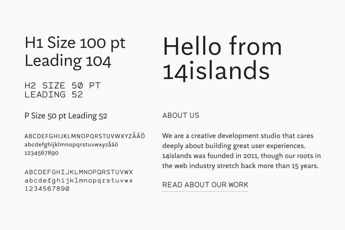 14 Islands数字开发公司企业品牌设计,字体设计