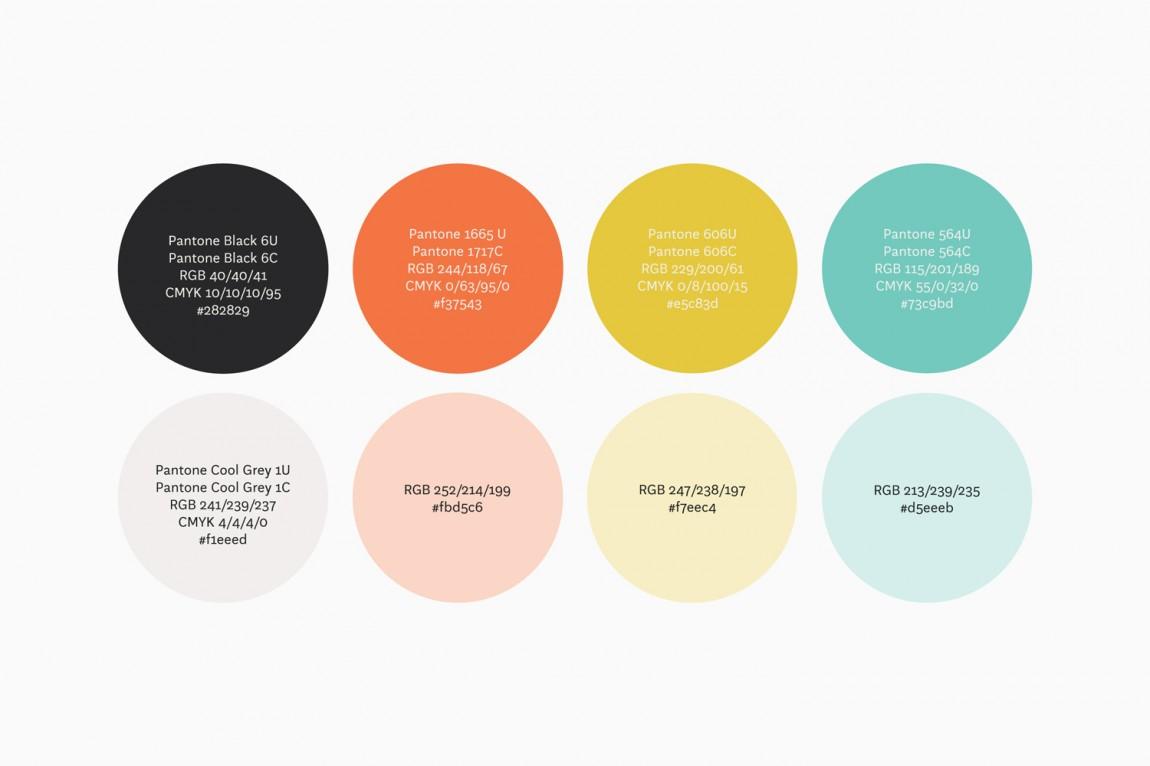 14 Islands数字开发公司企业品牌设计,品牌色设定