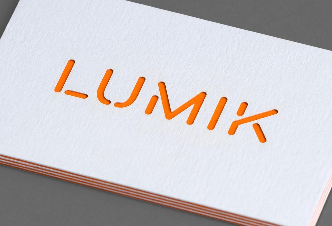 Lumik照明灯具公司品牌形象塑造,名片设计