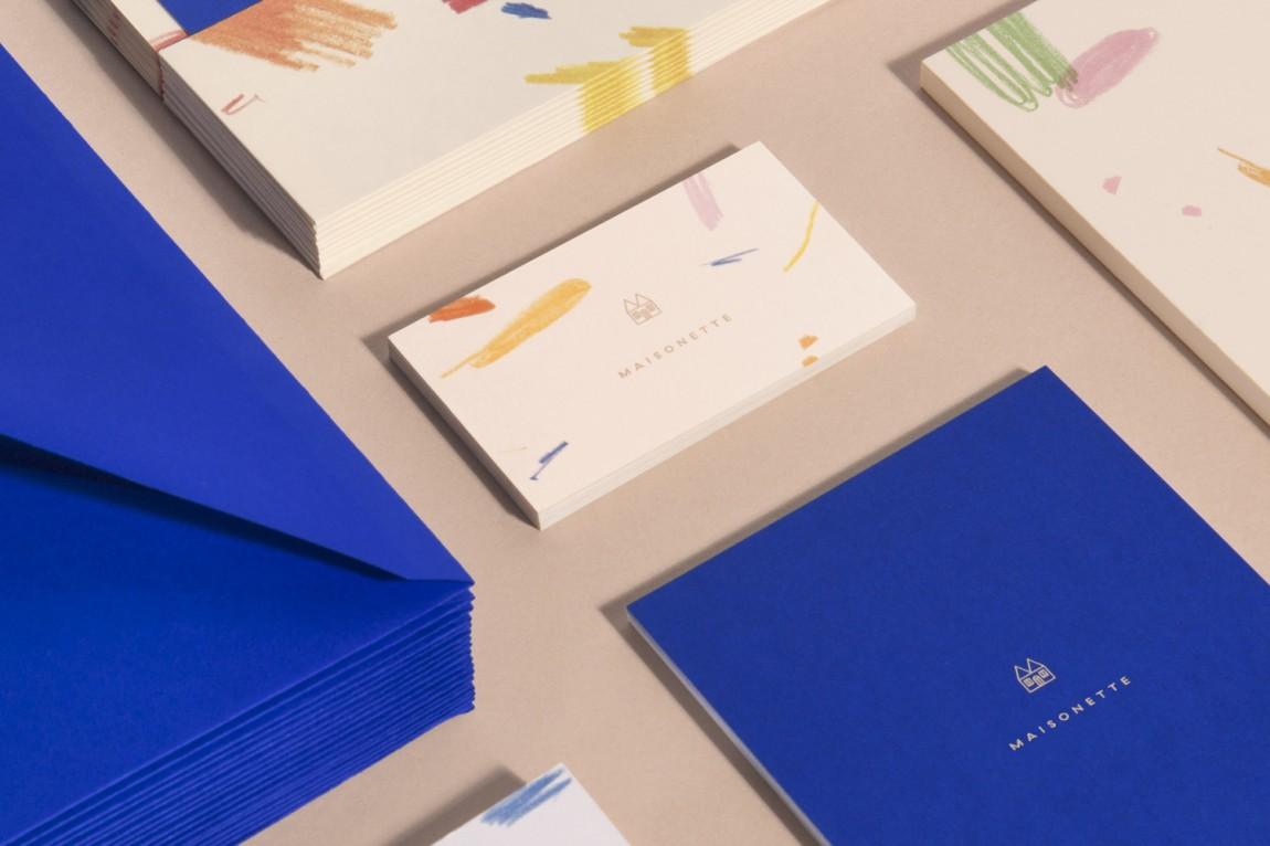 Maisonette儿童奢侈品牌在线零售商企业形象包装设计,名片设计