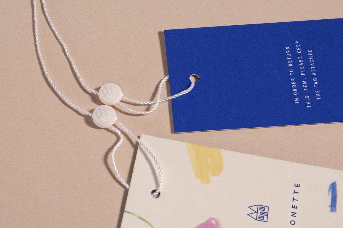 Maisonette儿童奢侈品牌在线零售商企业形象包装设计,吊牌设计
