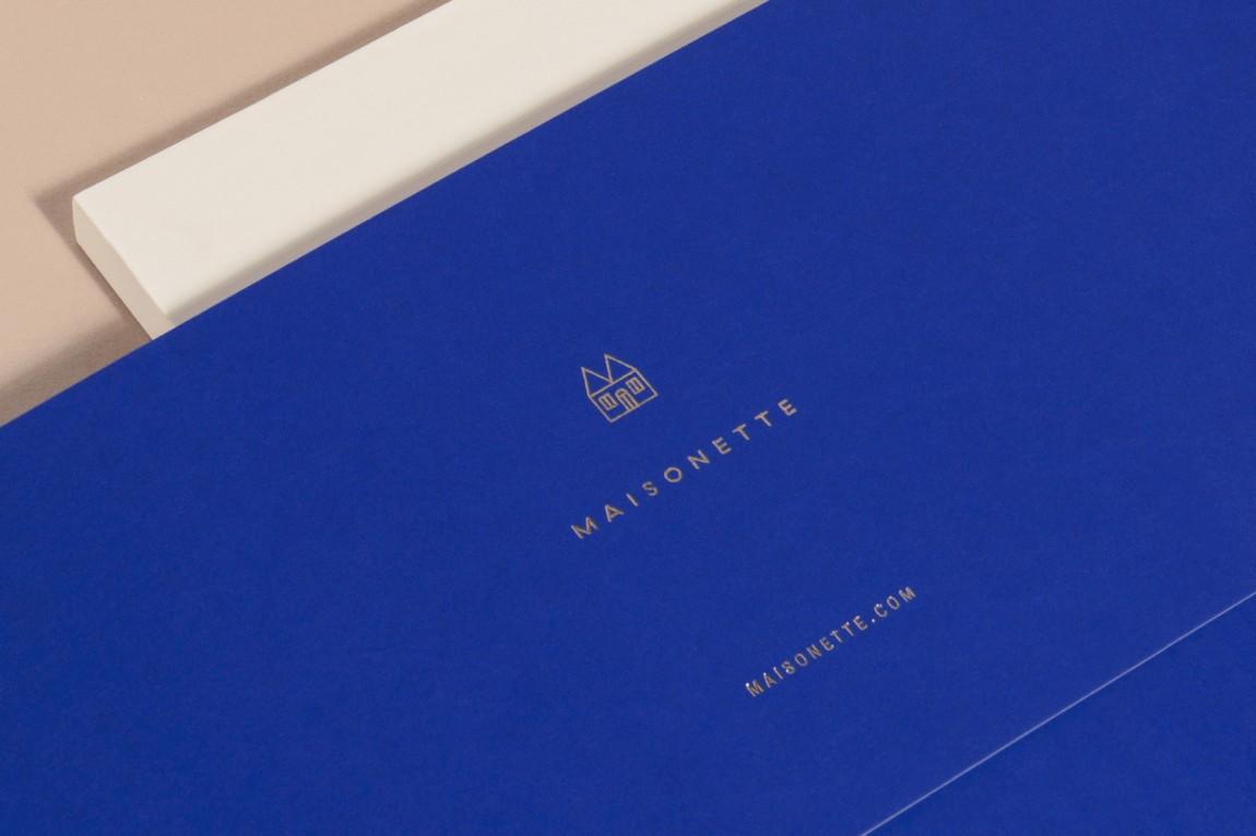 Maisonette儿童奢侈品牌在线零售商企业形象包装设计, 烫金工艺