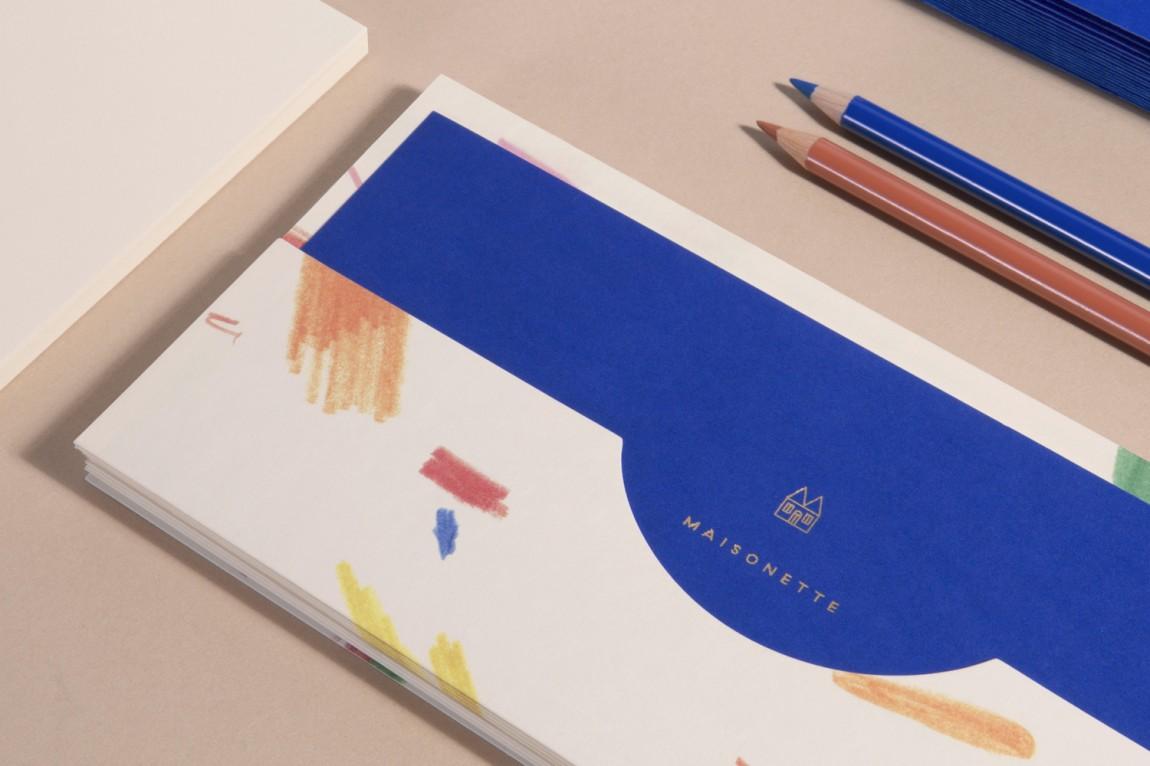Maisonette儿童奢侈品牌在线零售商企业形象包装设计,邀请卡设计