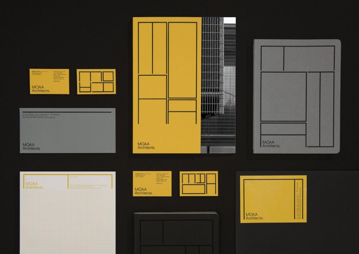 MOAA Architects建筑空间企业形象设计, VIS设计