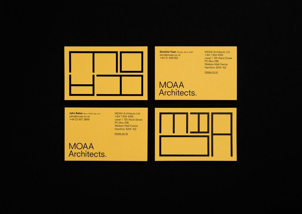 MOAA Architects建筑空间企业形象设计, 名片设计