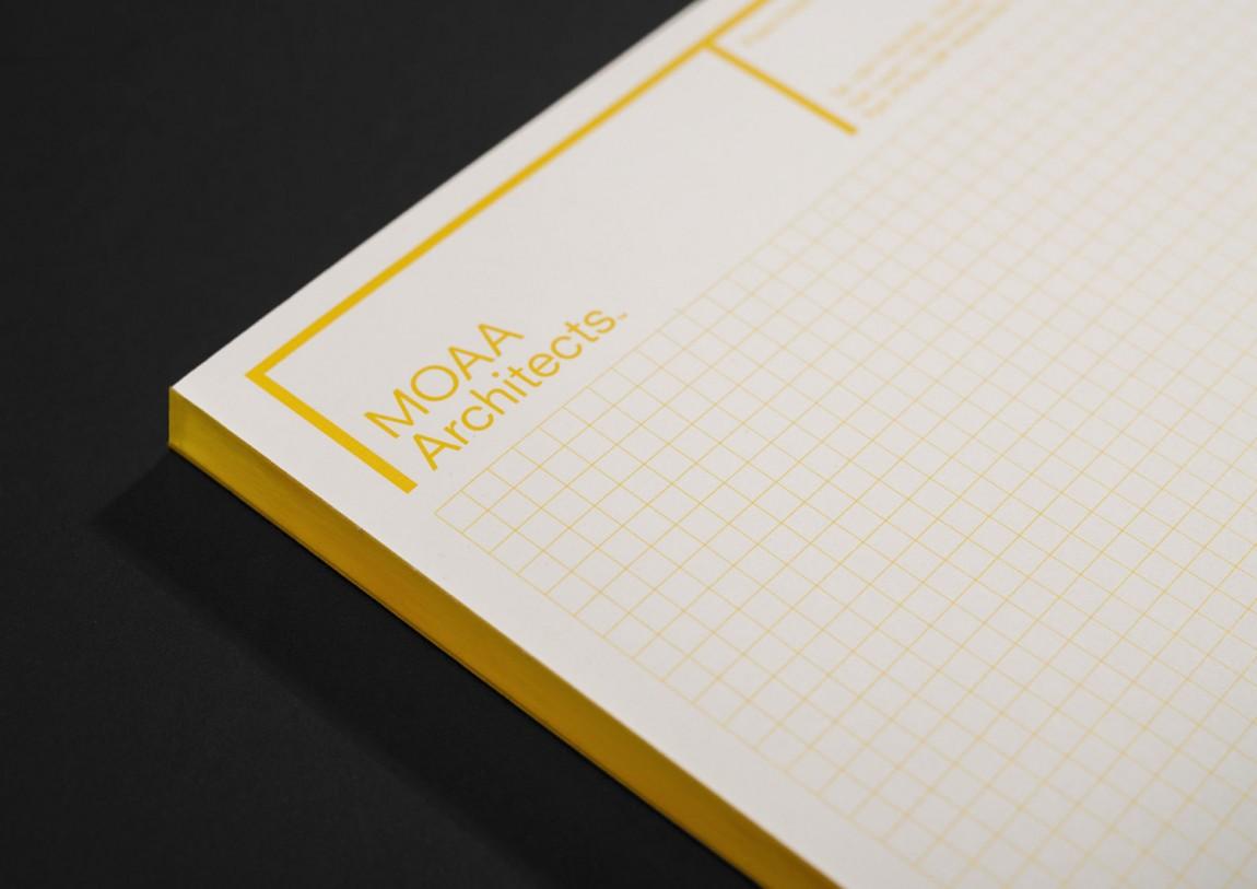 MOAA Architects建筑空间企业形象设计, 便签纸设计