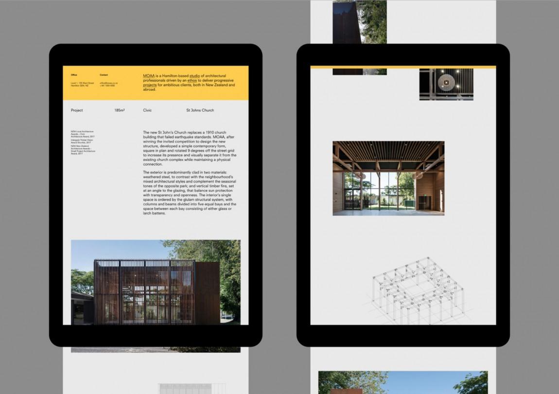 MOAA Architects建筑空间企业形象设计, 响应式网站设计