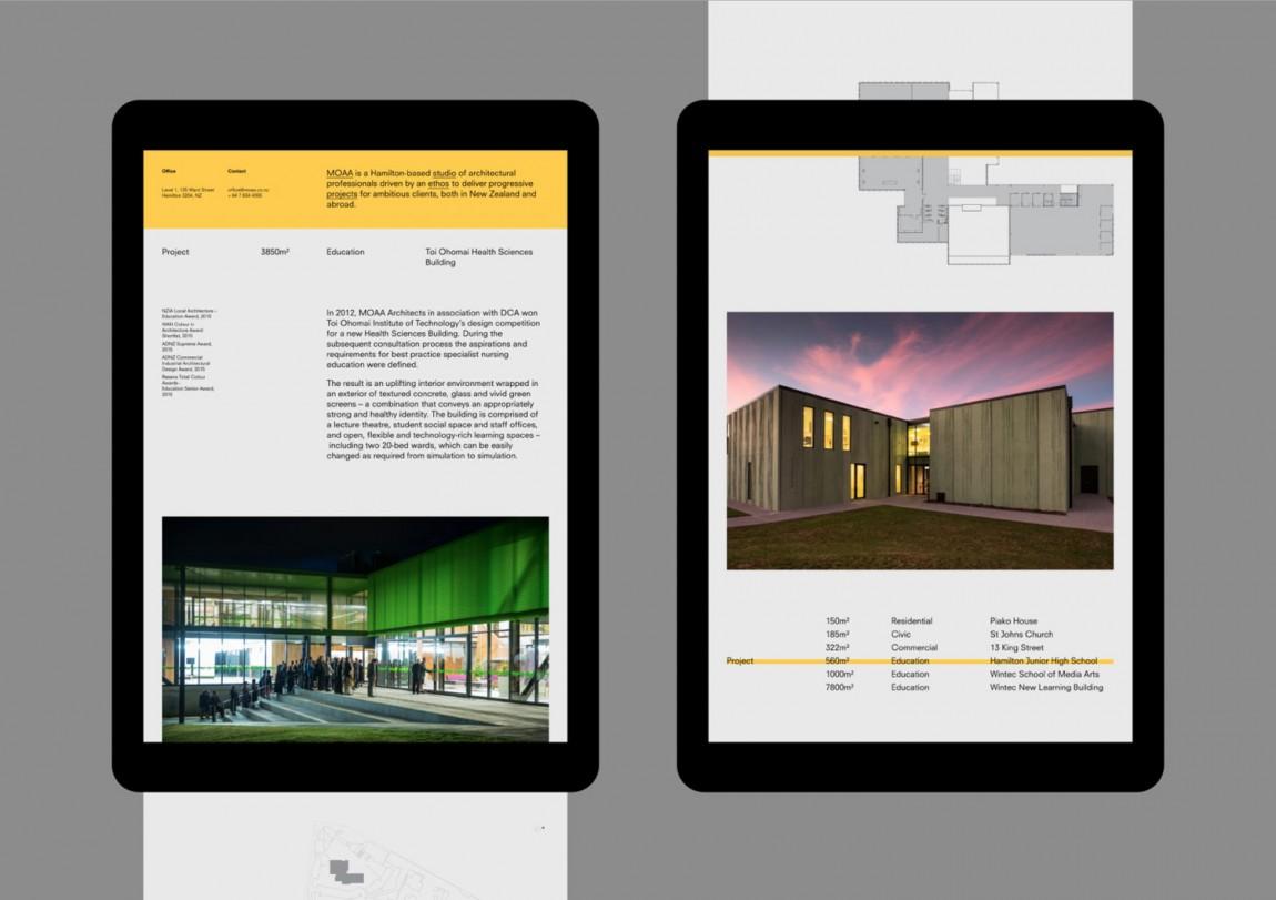 MOAA Architects建筑空间企业形象设计, 公司网站设计