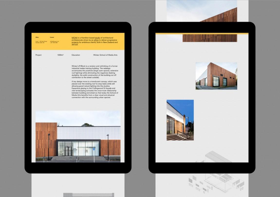 MOAA Architects建筑空间企业形象设计, 自适应网站设计