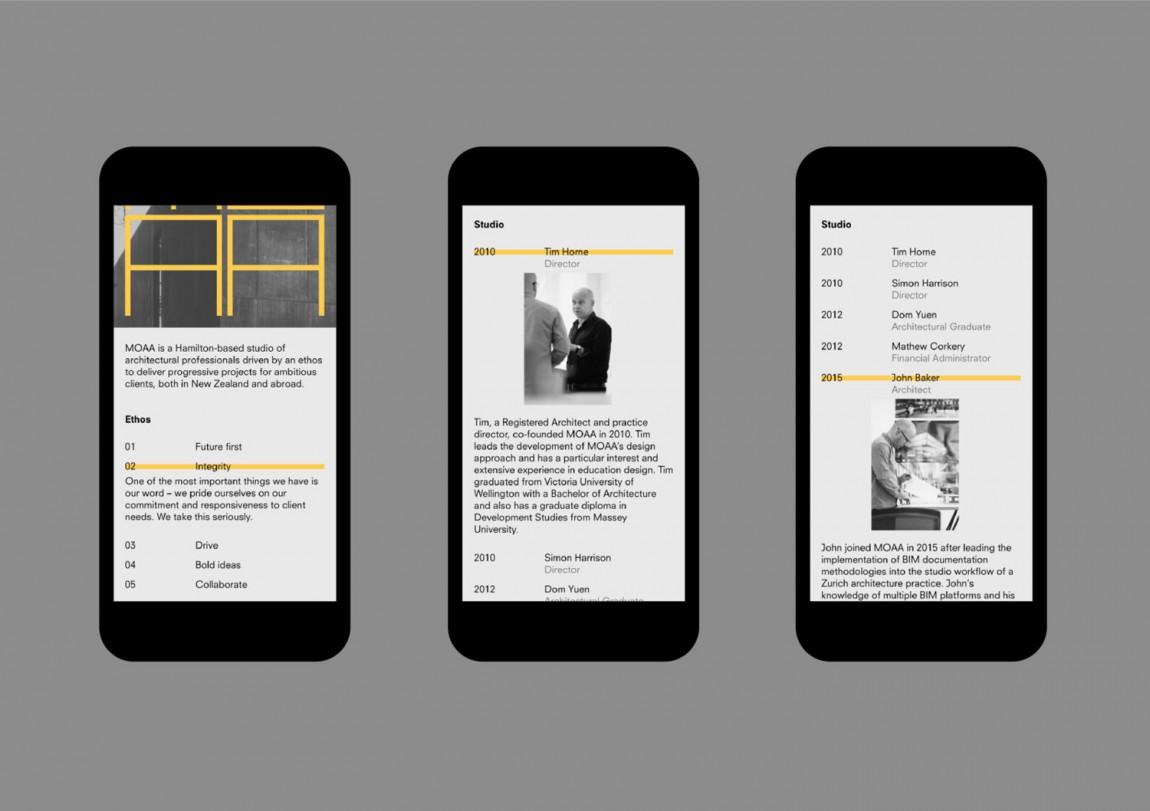MOAA Architects建筑空间企业形象设计,手机网站设计