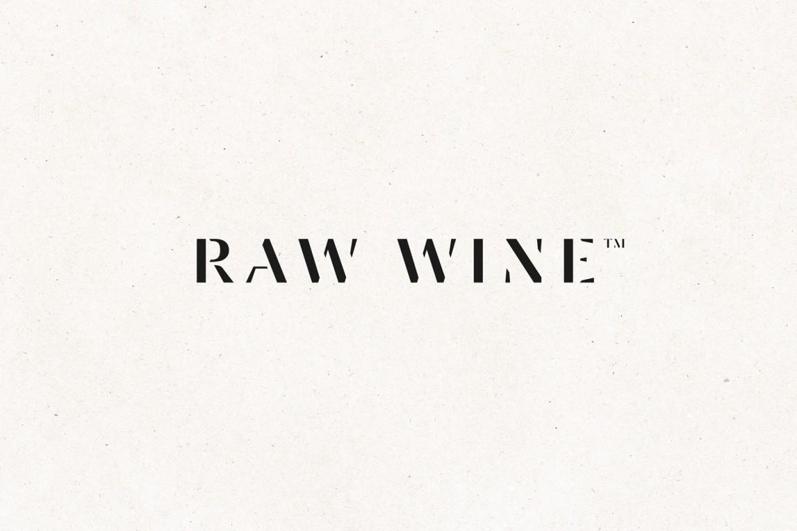 Raw Wine葡萄酒交易会品牌形象塑造,精心制作并充满个性, 字体logo设计