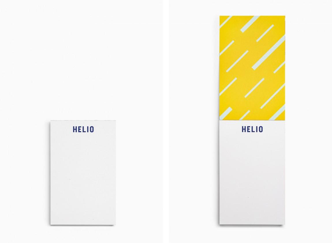 Helio联合办公空间企业形象设计,笔记本设计