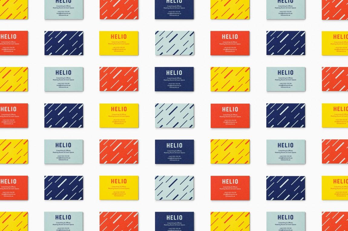 Helio联合办公空间企业形象设计,名片设计
