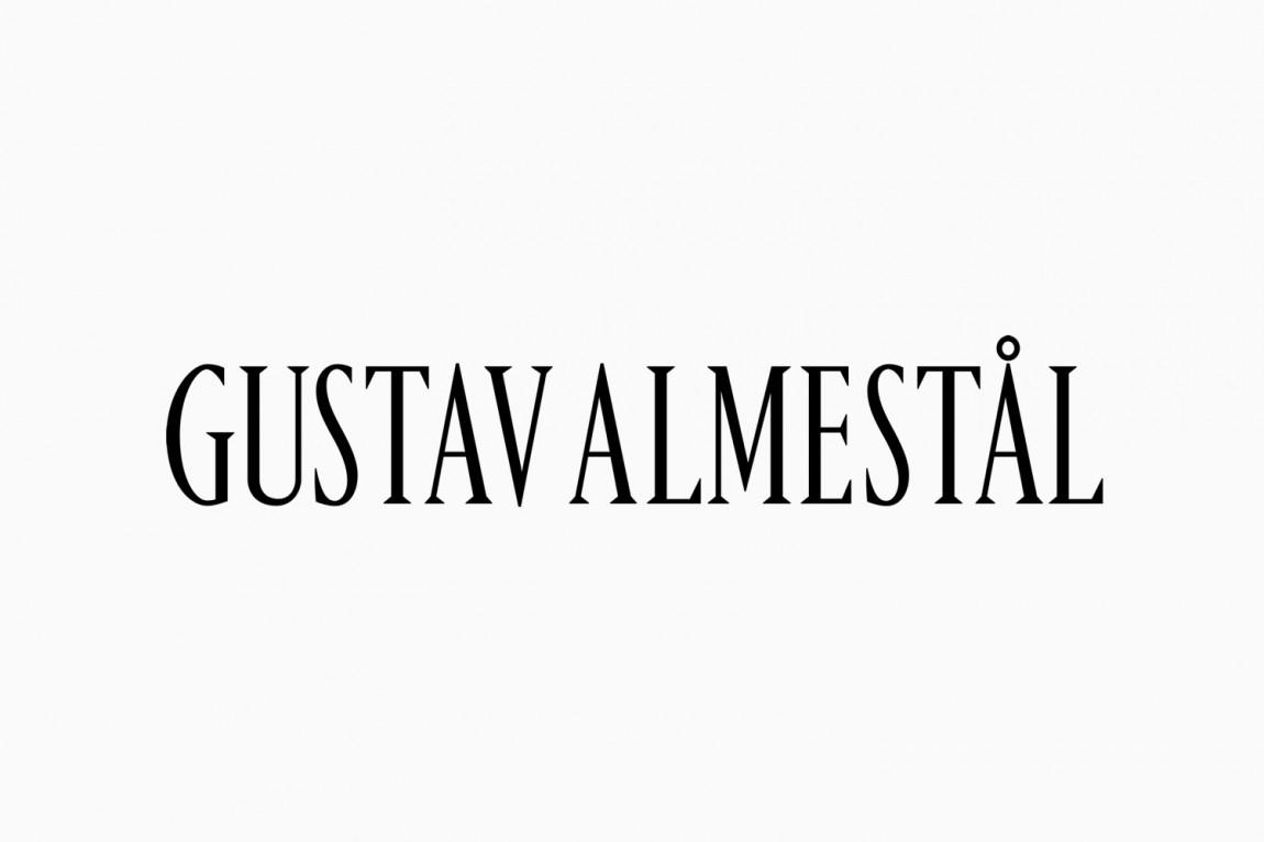 Gustav Almestål摄影公司视觉形象设计,字体设计