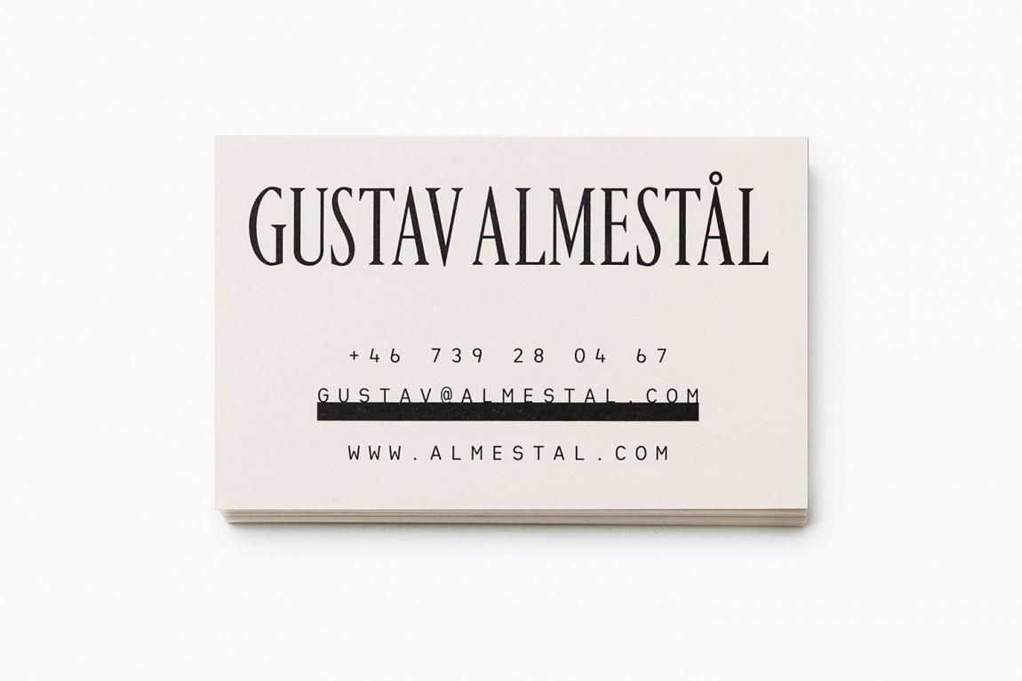 Gustav Almestål摄影公司视觉形象设计