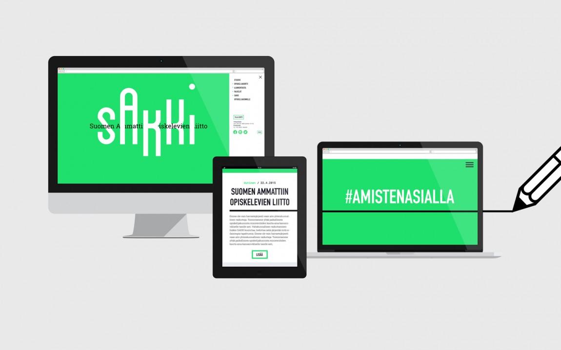 Sakki学生联盟学校VI设计,网站设计