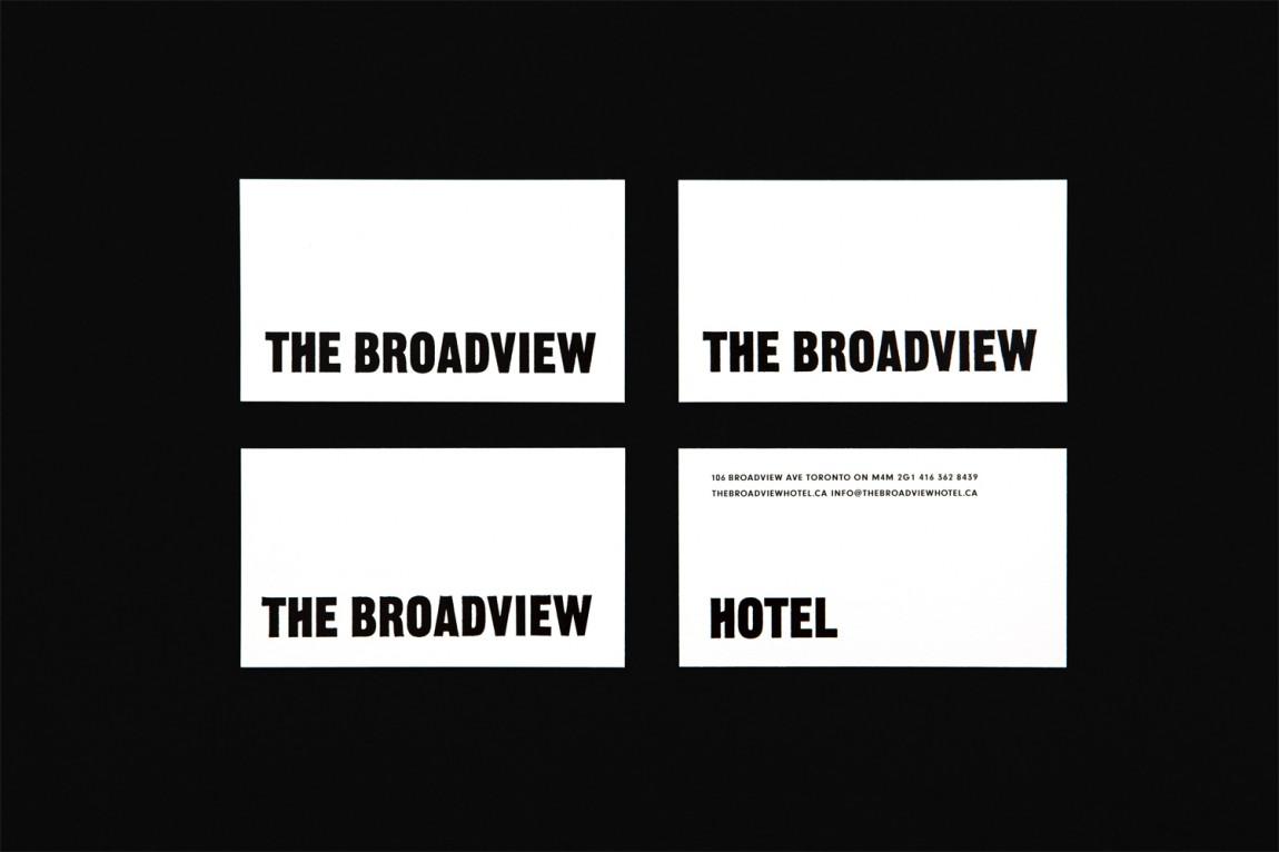 多伦多The Broadview酒店vi设计