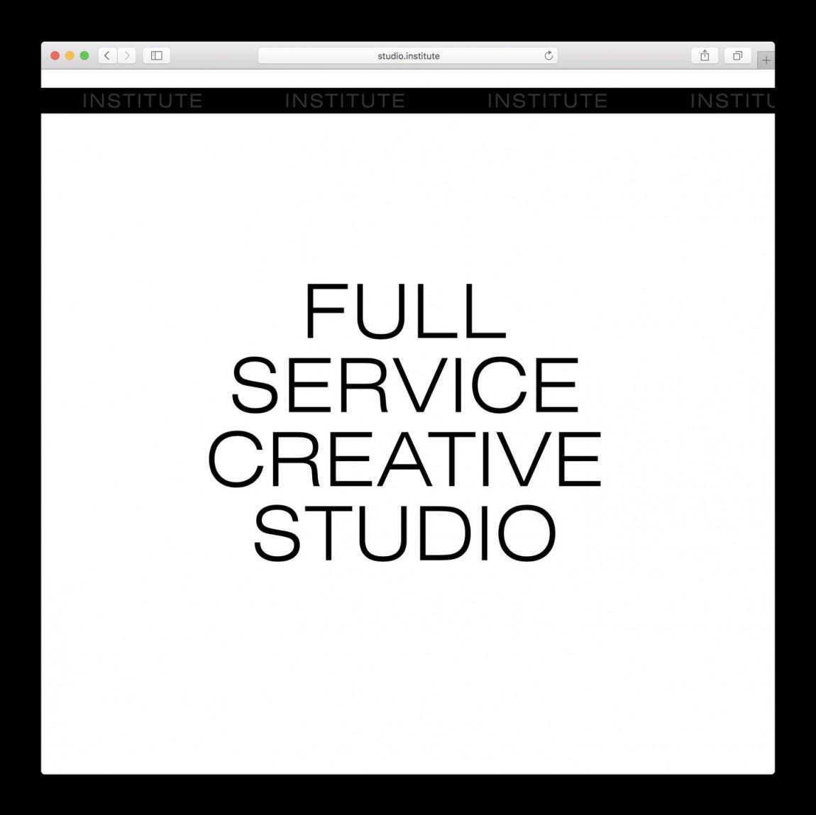 纽约Institute创意工作室视觉传达设计,网站设计