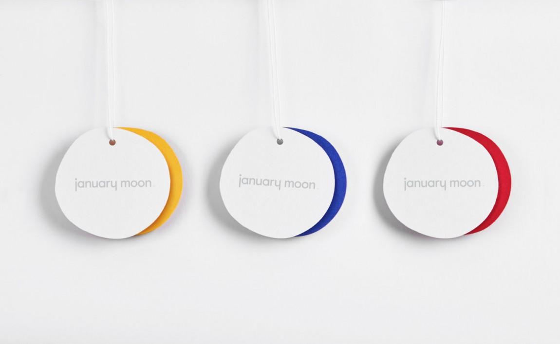 January Moon产品形象设计,吊牌设计