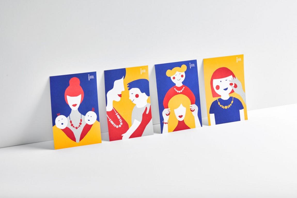 January Moon产品形象设计,卡片设计