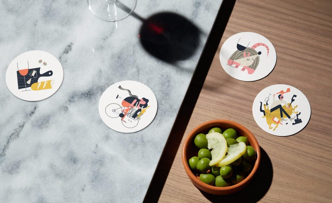 High Street酒吧VI设计,杯垫设计