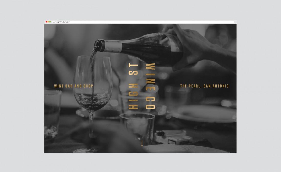 High Street酒吧VI设计,网站设计