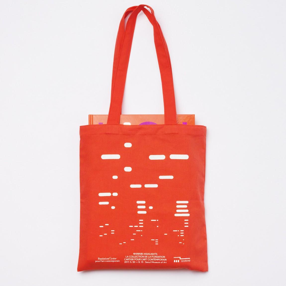 法国当代艺术博物馆作品展(Highlights)品牌创意整体形象设计,手提袋设计