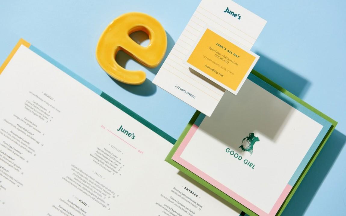 June 's 咖啡馆和酒吧餐饮vi设计,办公应用设计