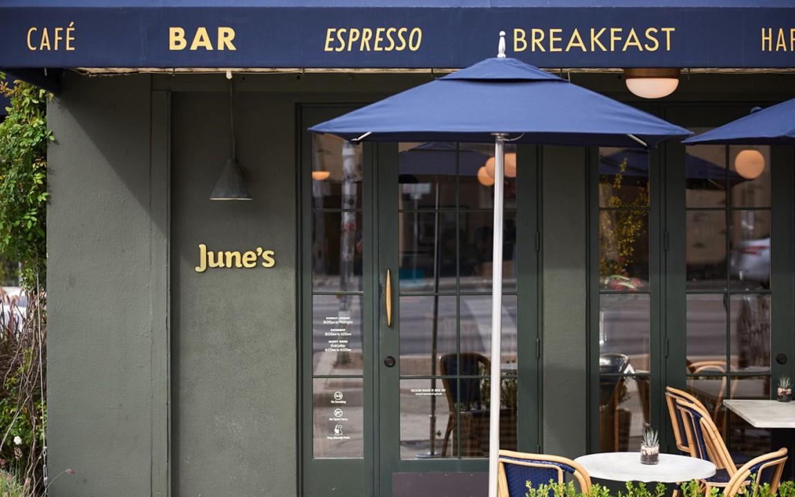 June 's 咖啡馆和酒吧餐饮vi设计,外摆设计