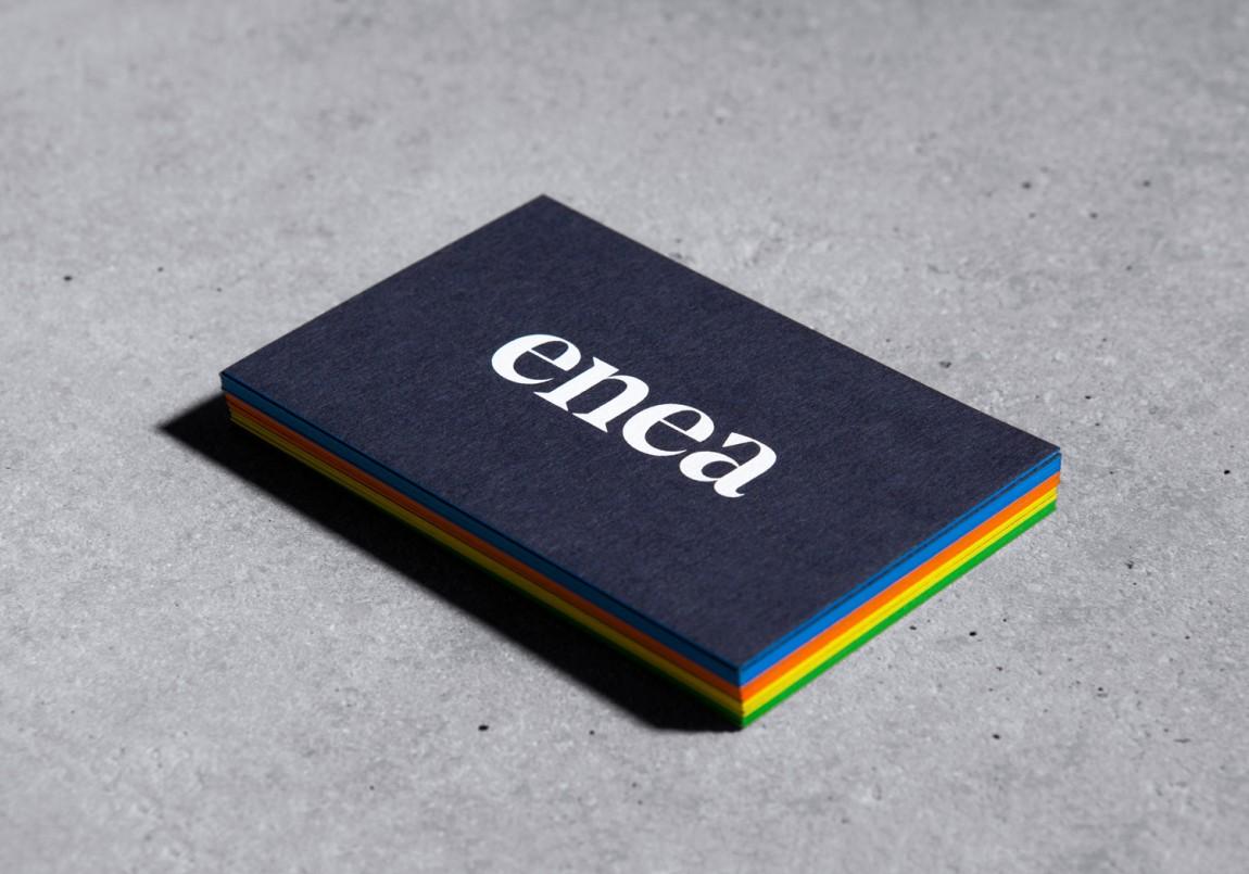 Enea家具制造商公司vi设计,名片设计