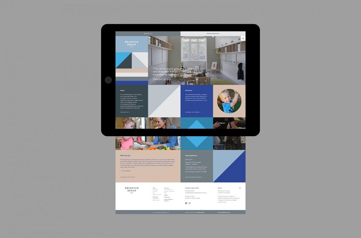 布莱顿ELC托儿所和早教中心学校VI设计,网站设计
