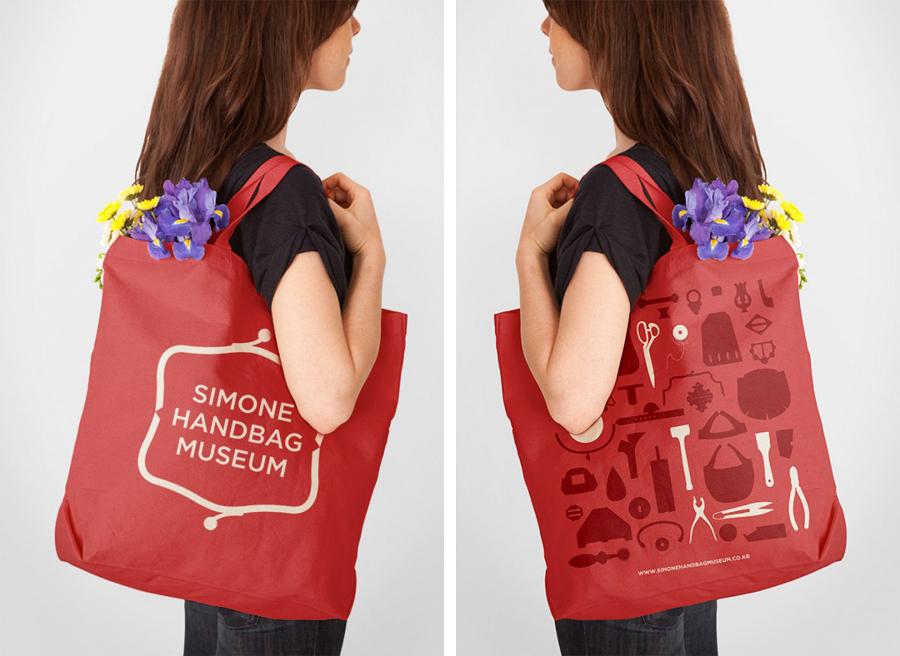 Simone手袋博物馆vi形象设计品牌塑造,手提袋设计