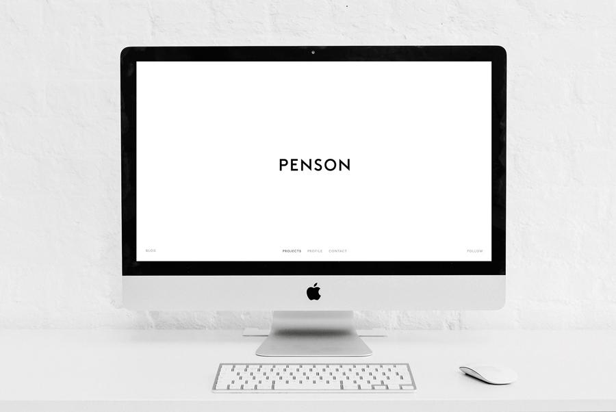 Penson室内设计公司商标设计,vi设计,网站设计