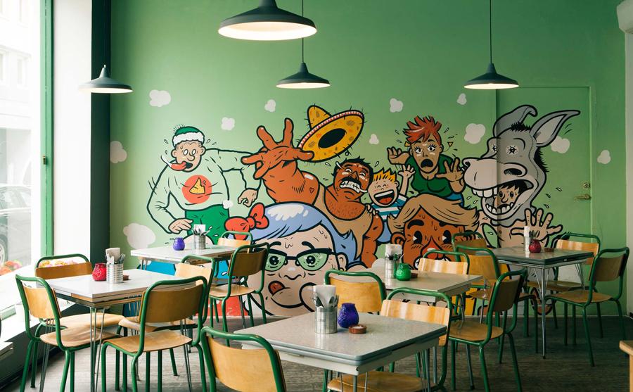4A广告公司分享:热情和疯狂墨西哥餐厅vi设计创新设计,餐饮空间设计