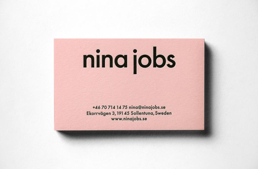 4A广告公司分享:妮娜·乔布斯公司vi设计,名片设计