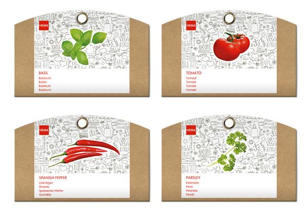 国际零售商HEMA蔬菜果蔬包装设计