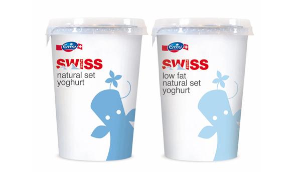 Swiss Plus酸奶产品外包装设计,健康可信和趣味童真