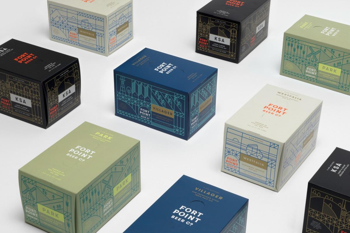 旧金山FPB公司精酿啤酒公司vi设计,包装盒设计