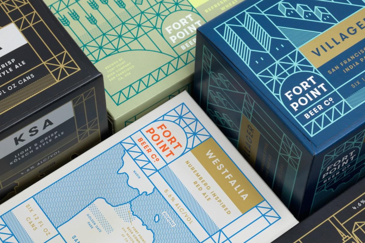 旧金山FPB公司精酿啤酒公司vi设计,外包装设计