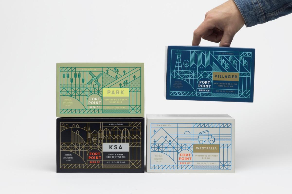 旧金山FPB公司精酿啤酒公司vi设计,包装箱设计