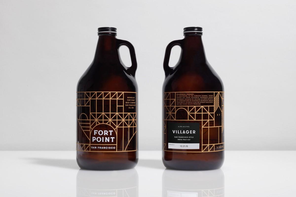旧金山FPB公司精酿啤酒公司vi设计,产品包装设计