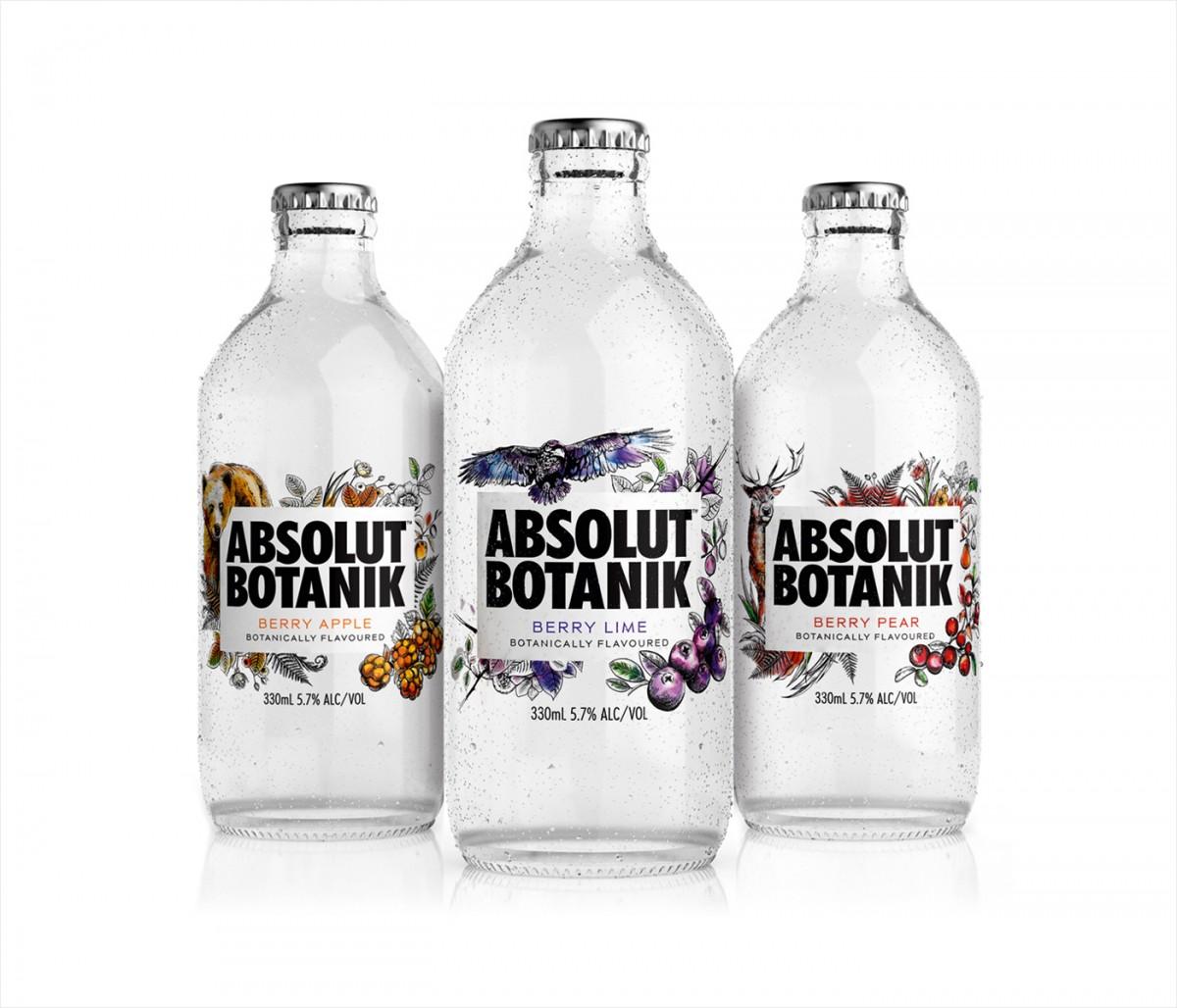 定制化预调伏特加高端包装设计,酒瓶贴设计