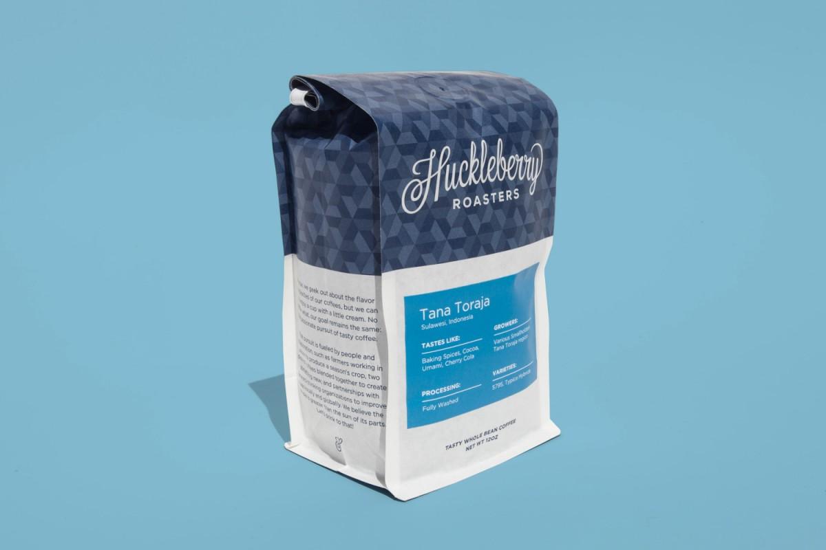 Huckleberry咖啡烘焙企业vi形象设计,包装设计