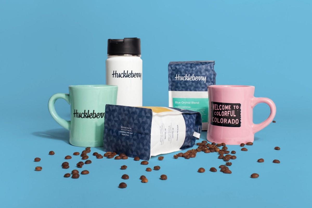 Huckleberry咖啡烘焙企业vi形象设计,杯子设计