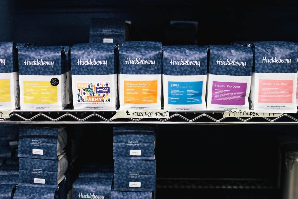 Huckleberry咖啡烘焙企业vi形象设计,咖啡包装设计