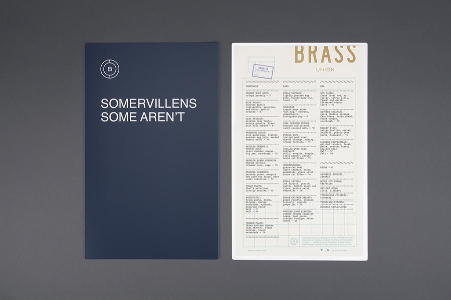 Brass Union餐厅vi设计,品牌设计,菜单设计